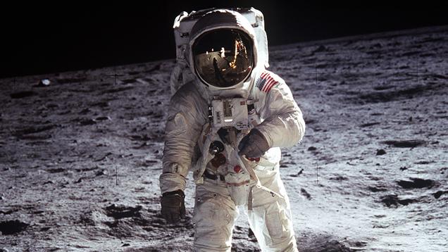 Buzz Aldrin betrat am 21. Juli 1969 als zweiter Mensch den Mond