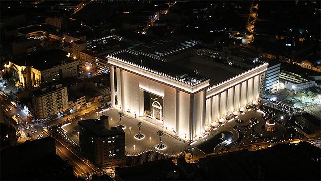 """Der """"Tempel des Salomo"""" bietet Platz für mehr als 10.000 Gläubige"""