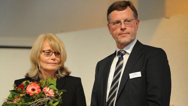 Frieder Trommer mit seiner Frau Rosmarie auf der Feier in Marburg