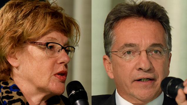 Cornelia Füllkrug-Weitzel mahnte gegenüber Friedrich Kitschelt menschenrechtliche Standards bei TTIP an