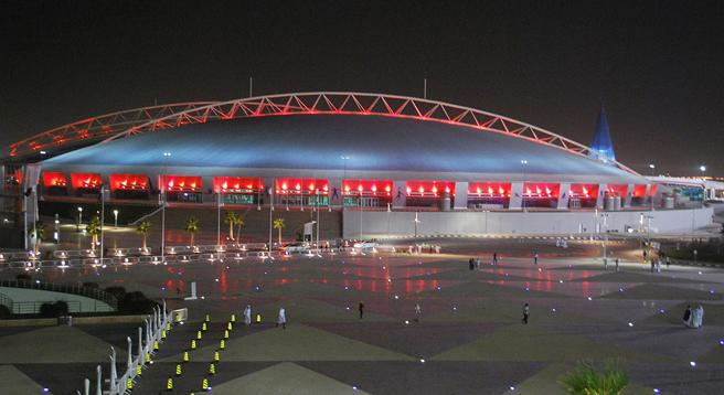 Hier soll 2022 der Ball rollen, wenn die Fußball-WM in Katar stattfindet: im Al Khalifa Stadium von Doha