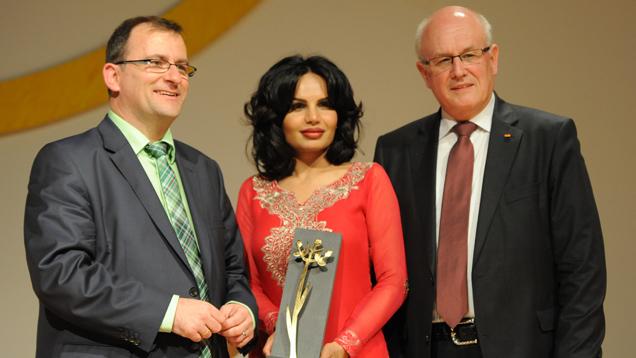 Steffen Kern, Sabatina James und Volker Kauder im Christlichen Gästezentrum Schönblick in Schwäbisch Gmünd