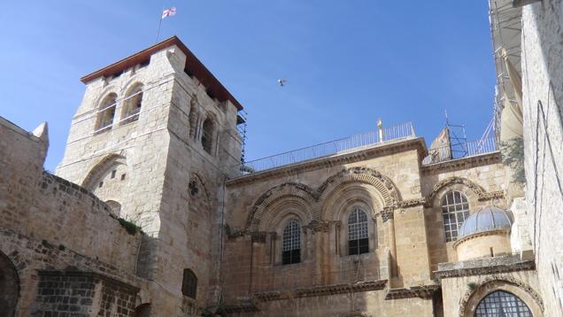 Die Grabeskirche in Jerusalem wird derzeit renoviert (Archivbild)