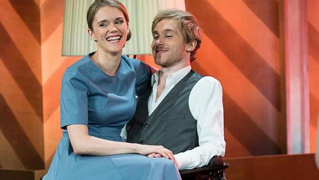 """Die Schauspieler Samuel Koch und Sarah Elena Timpe, hier zu Gast in der RTL-Show """"Mensch Gottschalk"""", haben geheiratet"""