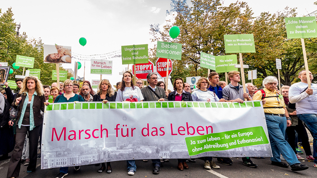 """Rund 7.000 Teilnehmer nahmen 2015 am """"Marsch für das Leben"""" teil"""
