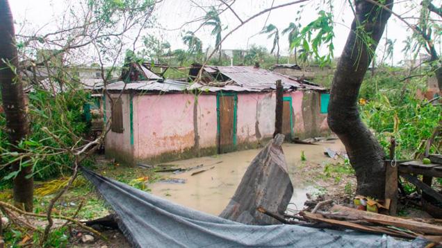 """Der Wirbelsturm """"Matthew"""" hat in Haiti schlimme Zerstörungen angerichtet"""