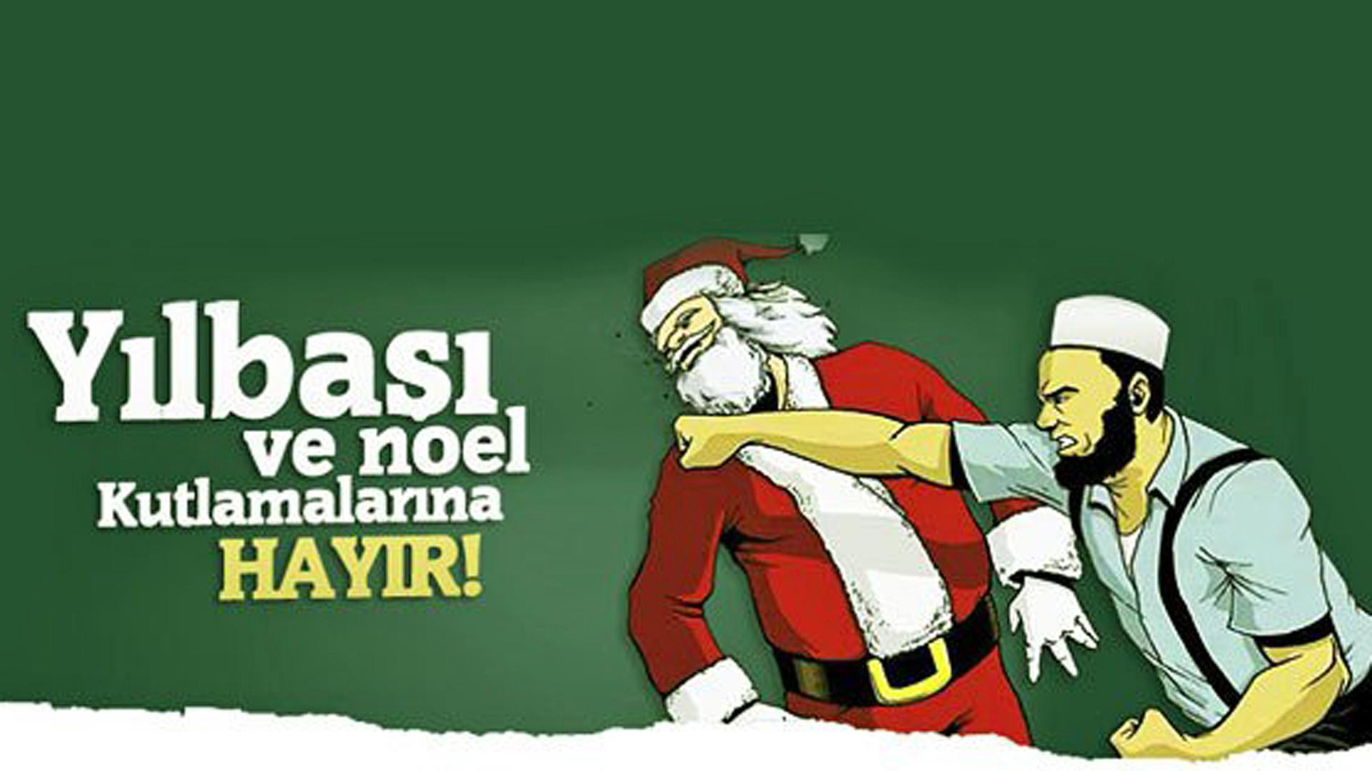 Die Antiweihnachtskampagne, die sich im Dezember im Internet verbreitete, hat ihren Ursprung in der Türkei