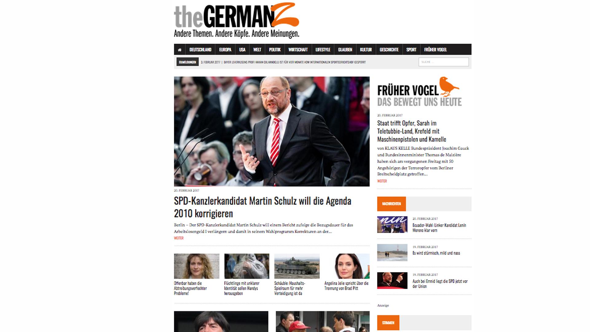 Kelles Projekt The GermanZ: Eine Online-Zeitung, die bürgerliche Leser erreichen will