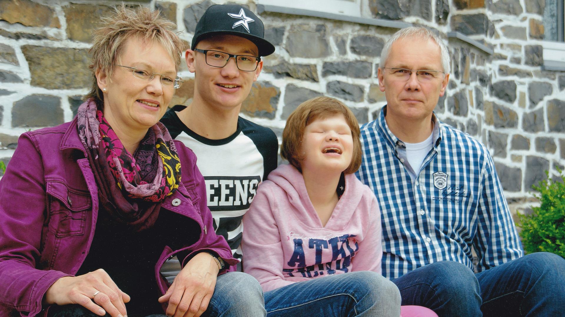 Von links: Sabine Langenbach, Sohn Niklas, Tochter Birte, Ehemann Frank