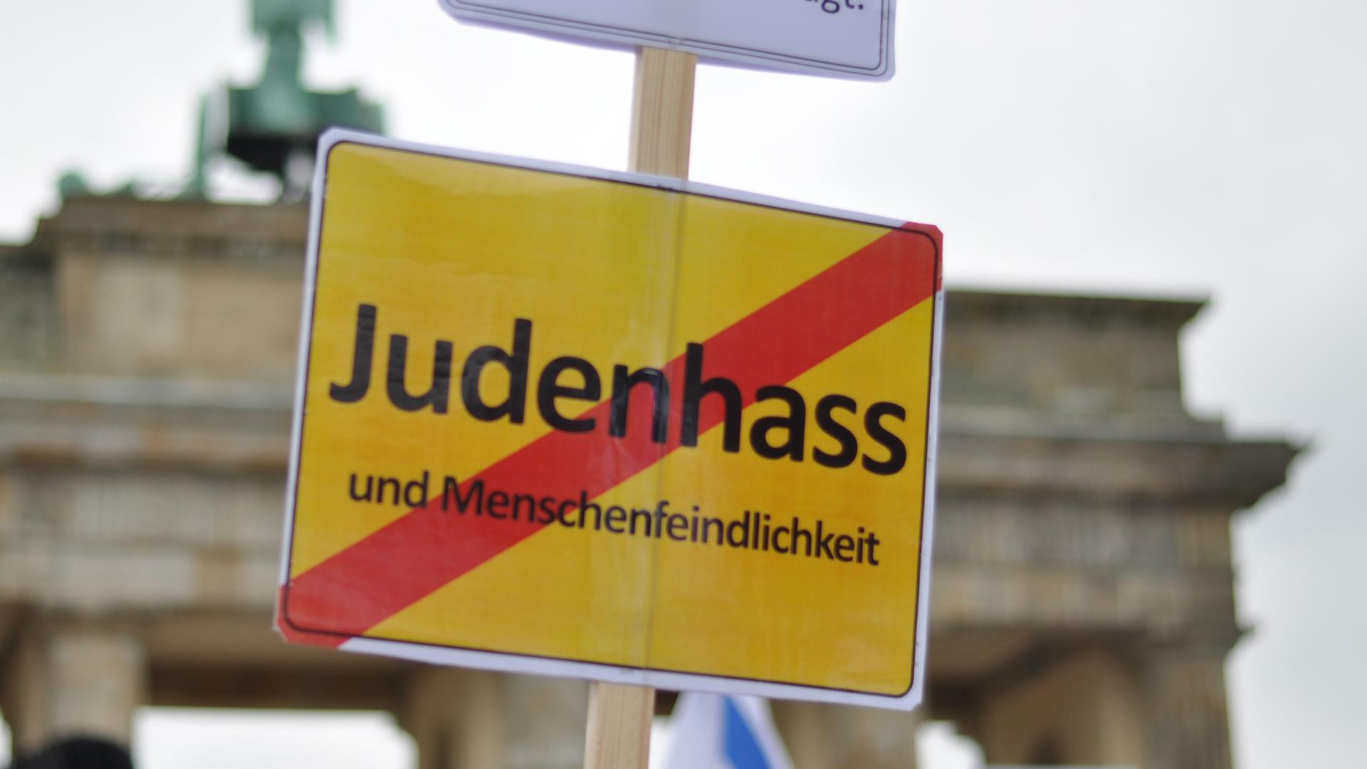 Demonstration gegen Antisemitismus 2014 vor dem Brandenburger Tor in Berlin (Archivbild)