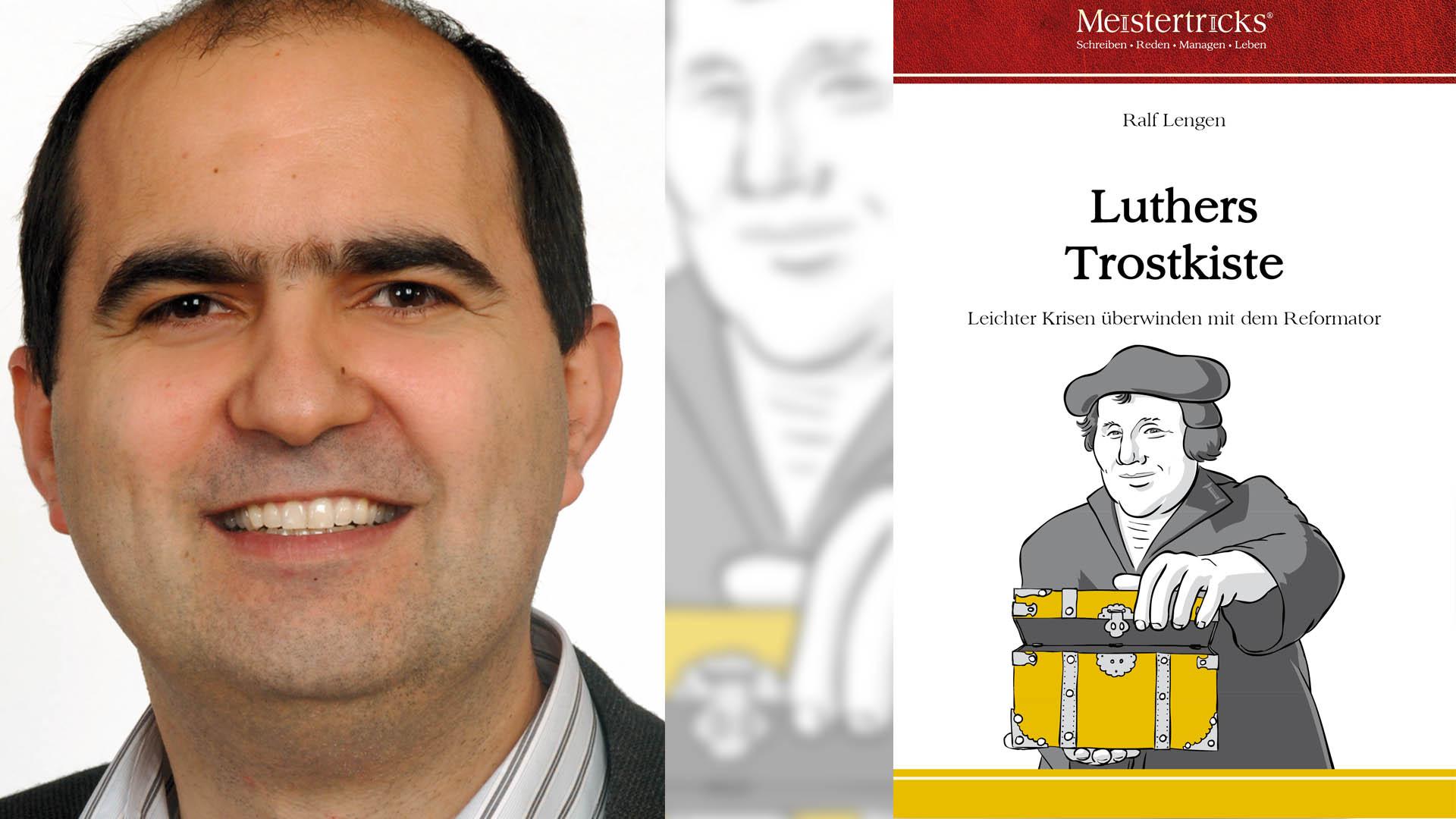 """In seinem Buch """"Luthers Trostkiste"""" will der Autor Ralf Lengen Trost mit Gedanken Luthers spenden, aber auch helfen, ein Tröster zu sein"""