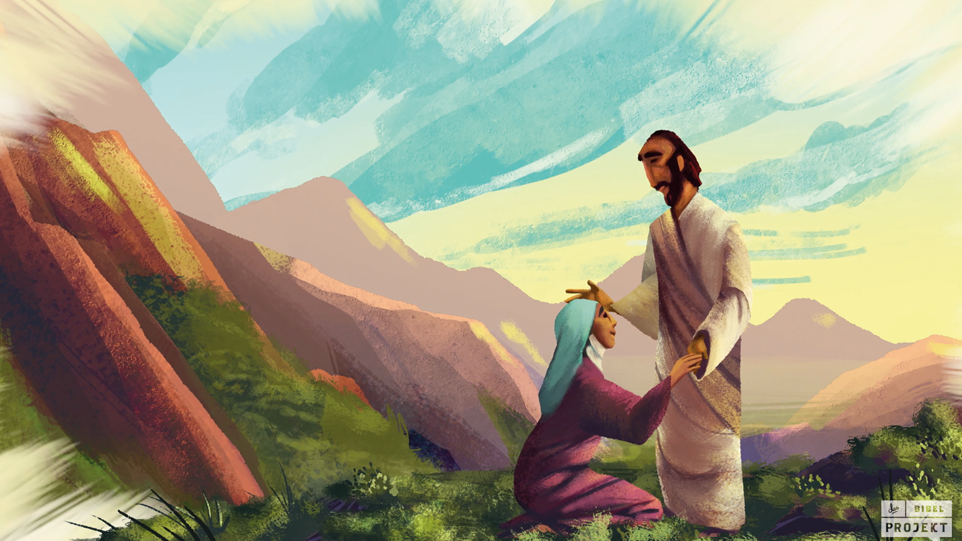 Jesus im Videoclip des Bibelprojekts