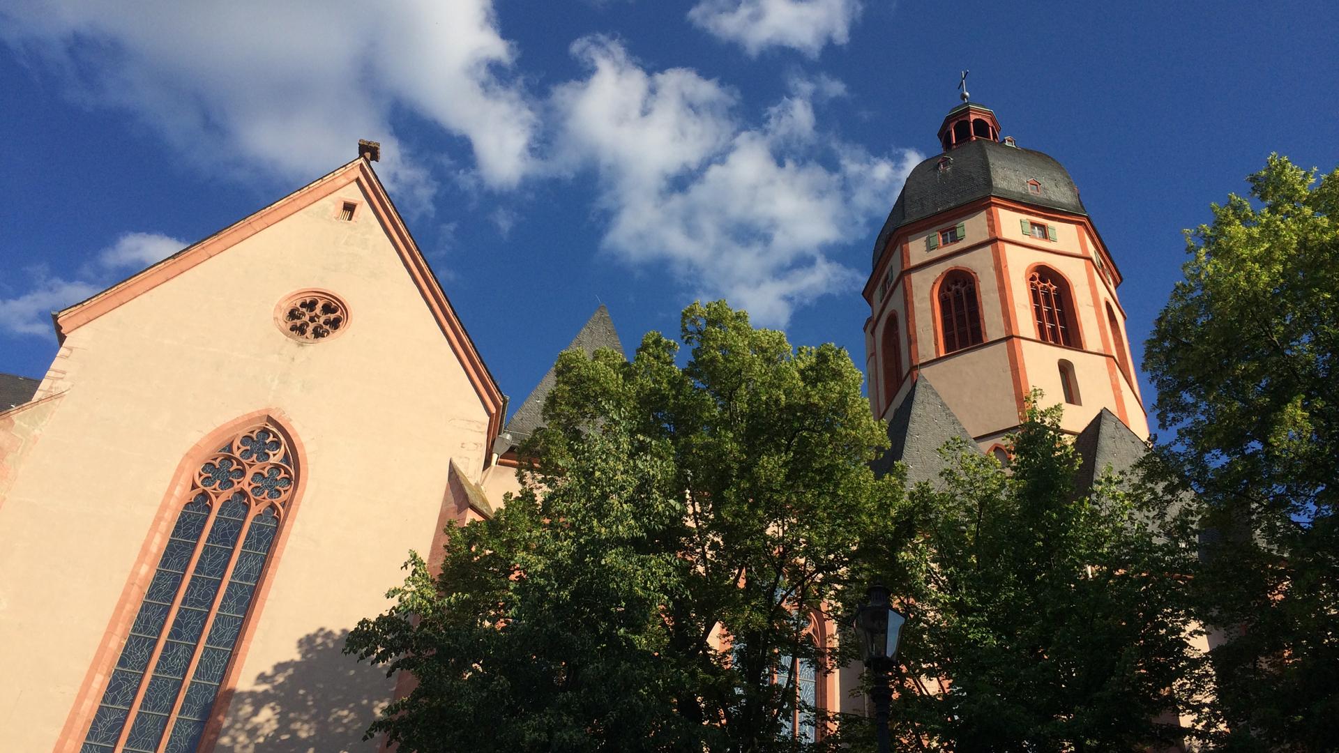 Ort des Geschehens in Mainz: Die Pfarrkirche St. Stephan