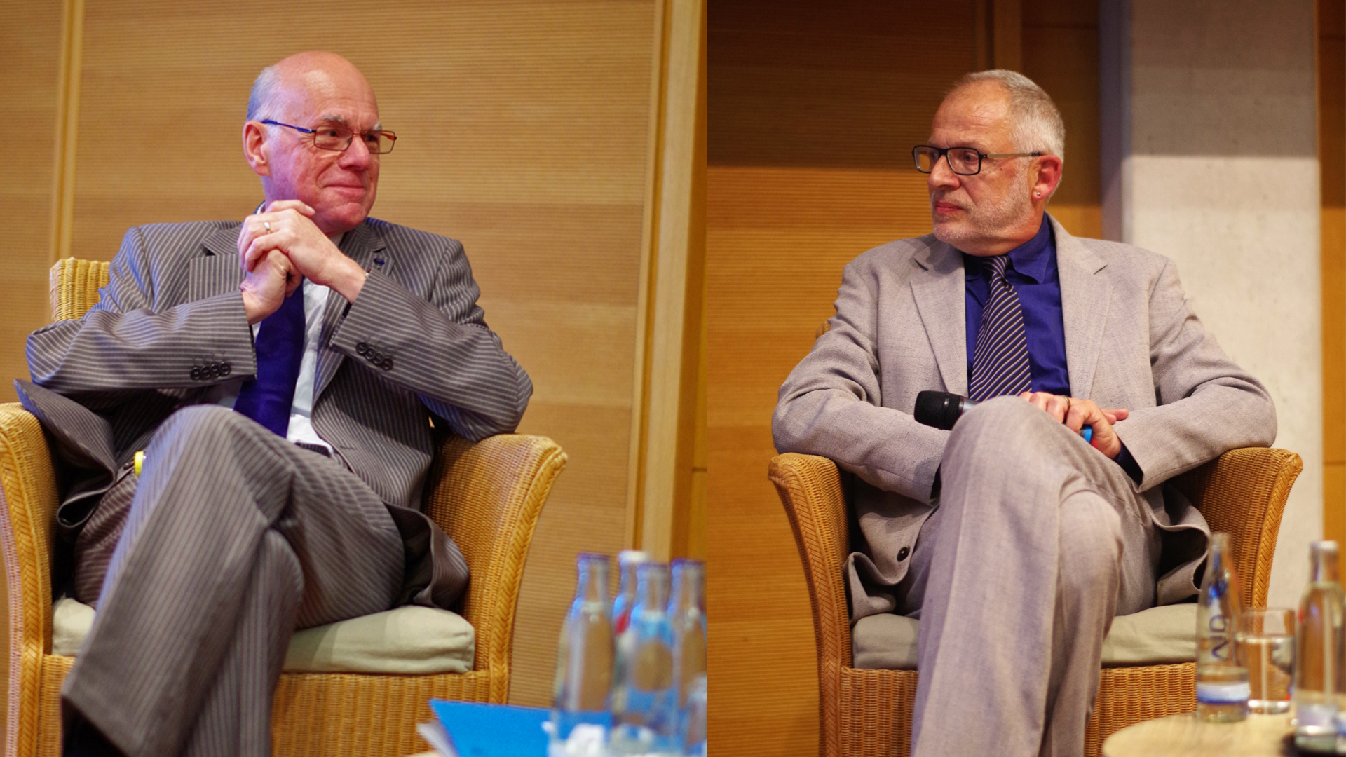 Norbert Lammert und Komponist Stefan Heucke bei der Pressekonferenz in Berlin