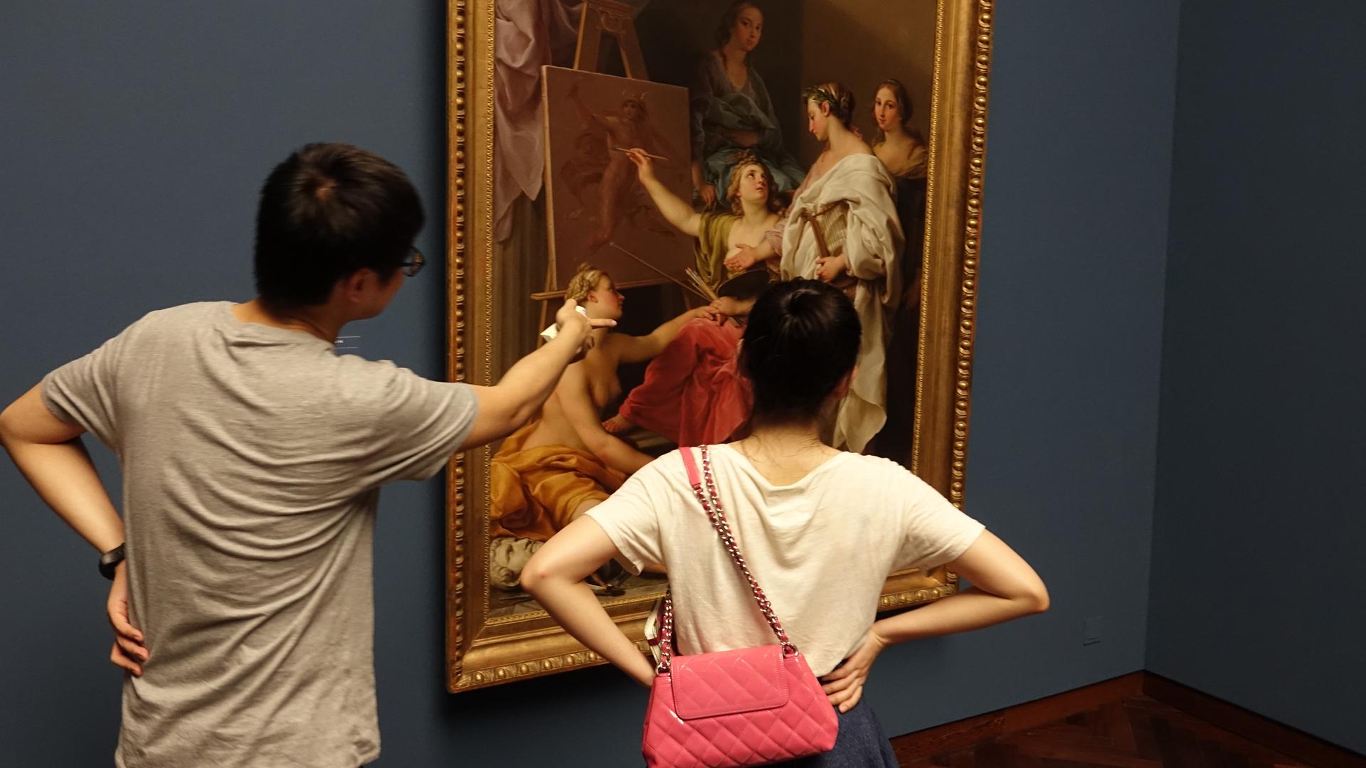 Nach den Referaten sehen die Betrachter das Gemälde aus einem neuen Blickwinkel