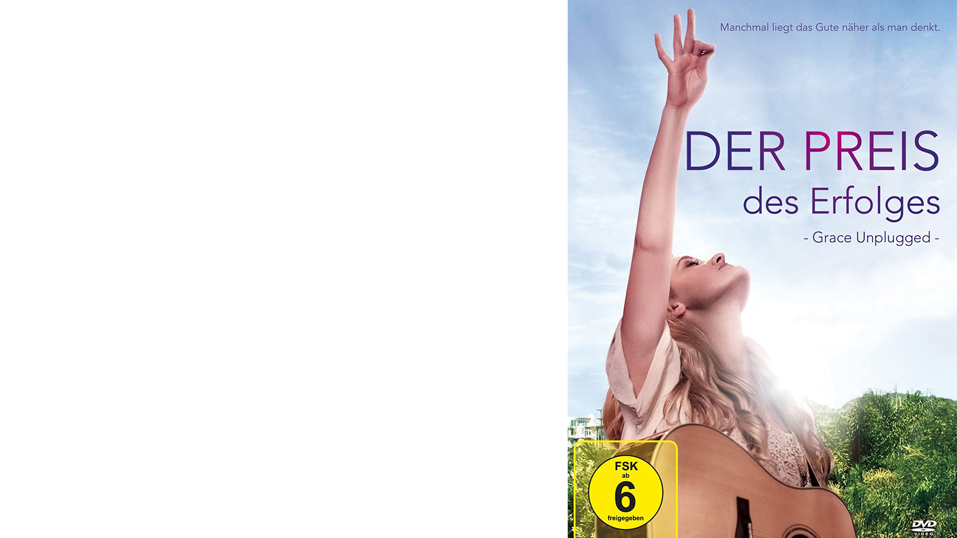 """""""Der Preis des Erfolges – Grace Unplugged"""". DVD, 102 Minuten, freigegeben ab sechs Jahren."""