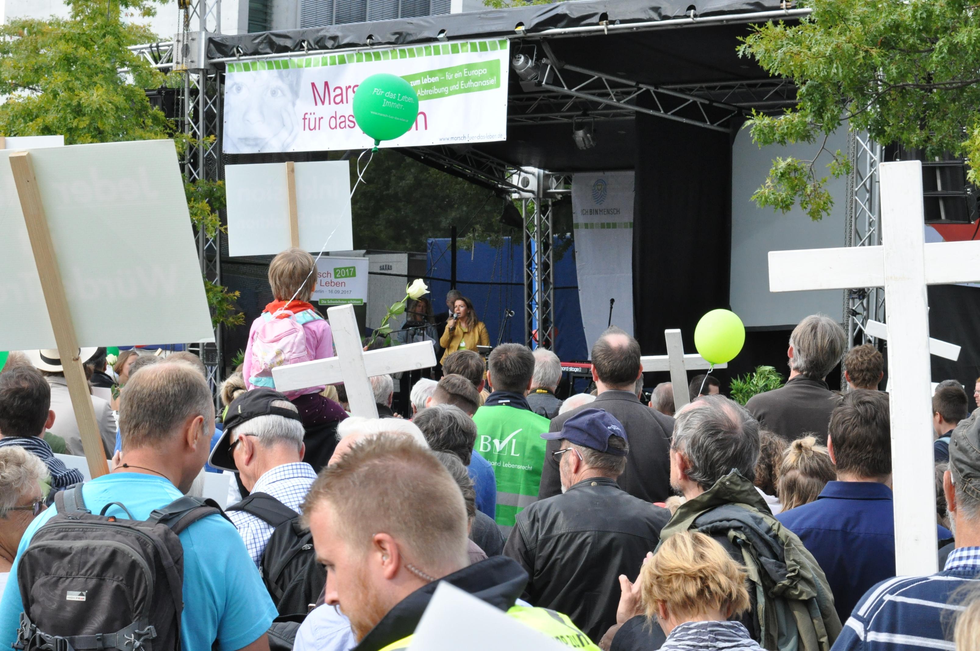 Birgit Kelle beim Marsch für das Leben
