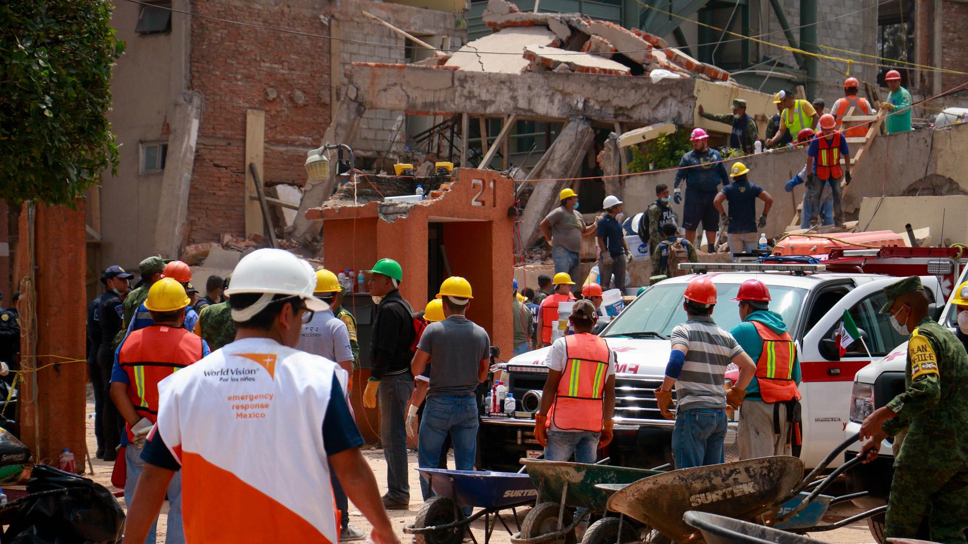 Rund 1.500 Gebäude wurden bei dem Erdbeben beschädigt