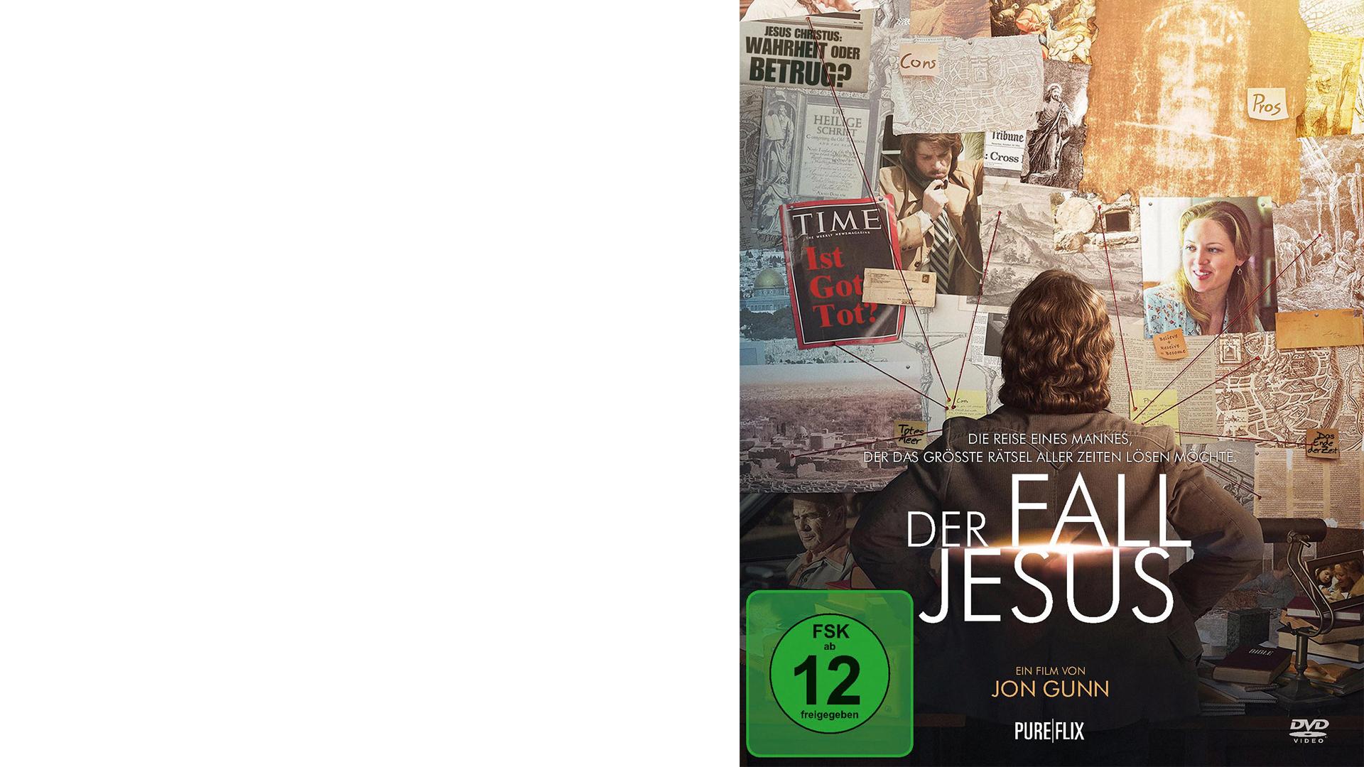 """""""Der Fall Jesus"""", Gerth Medien auf DVD und Blu-ray, 15 Euro, freigegeben ab zwölf Jahren, ISBN 4051238056402"""