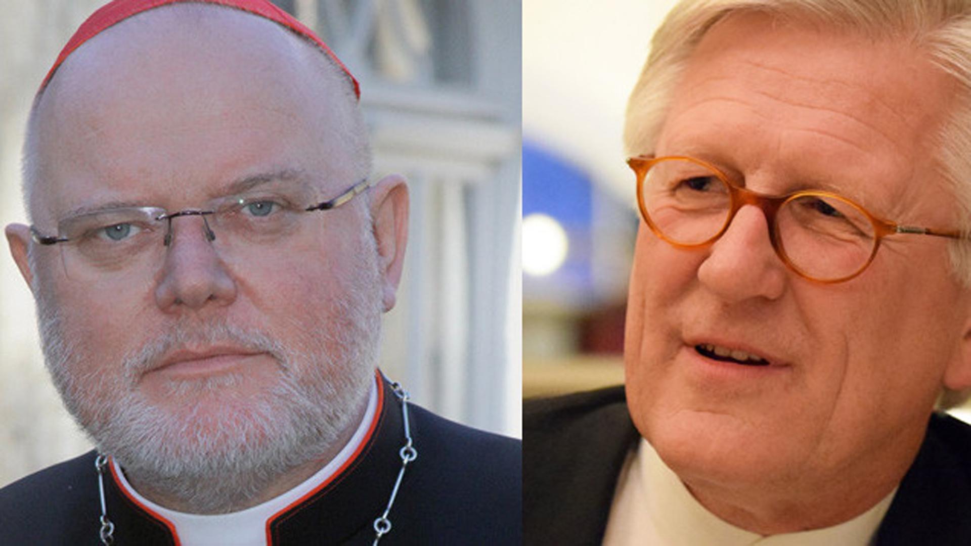 Kardinal Reinhard Marx (links) und der EKD-Ratsvorsitzende Heinrich Bedford-Strohm (rechts) mühen sich um die Ökumene