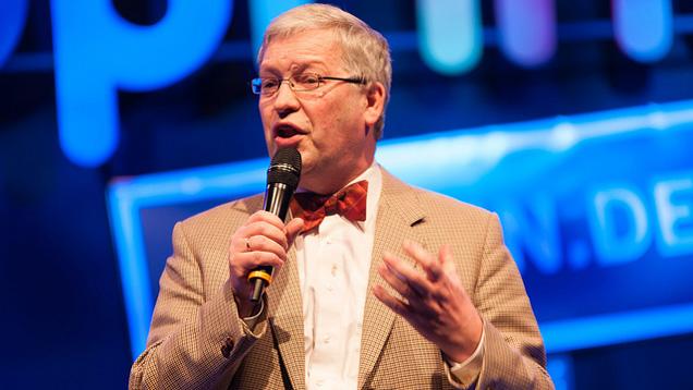 Hartmut Steeb stellte am Mittwoch die politischen Ziele der Evangelischen Alllianz vor Gästen aus Politik und Gesellschaft vor