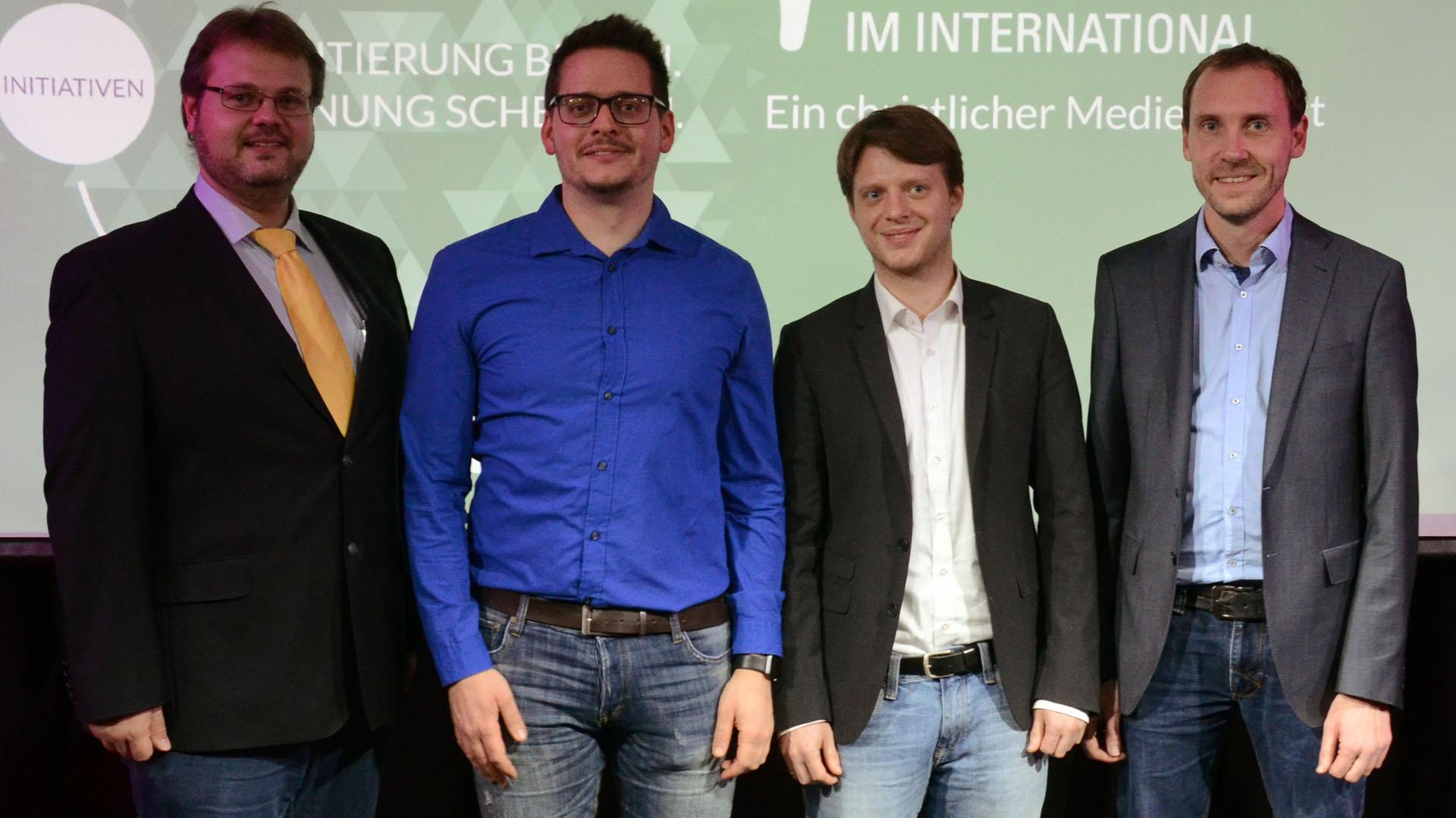 Vorstand IM Deutschland (v. l. n. r.): Timo Marks, David Spies, Marius Bernhardt, Sven Kühne