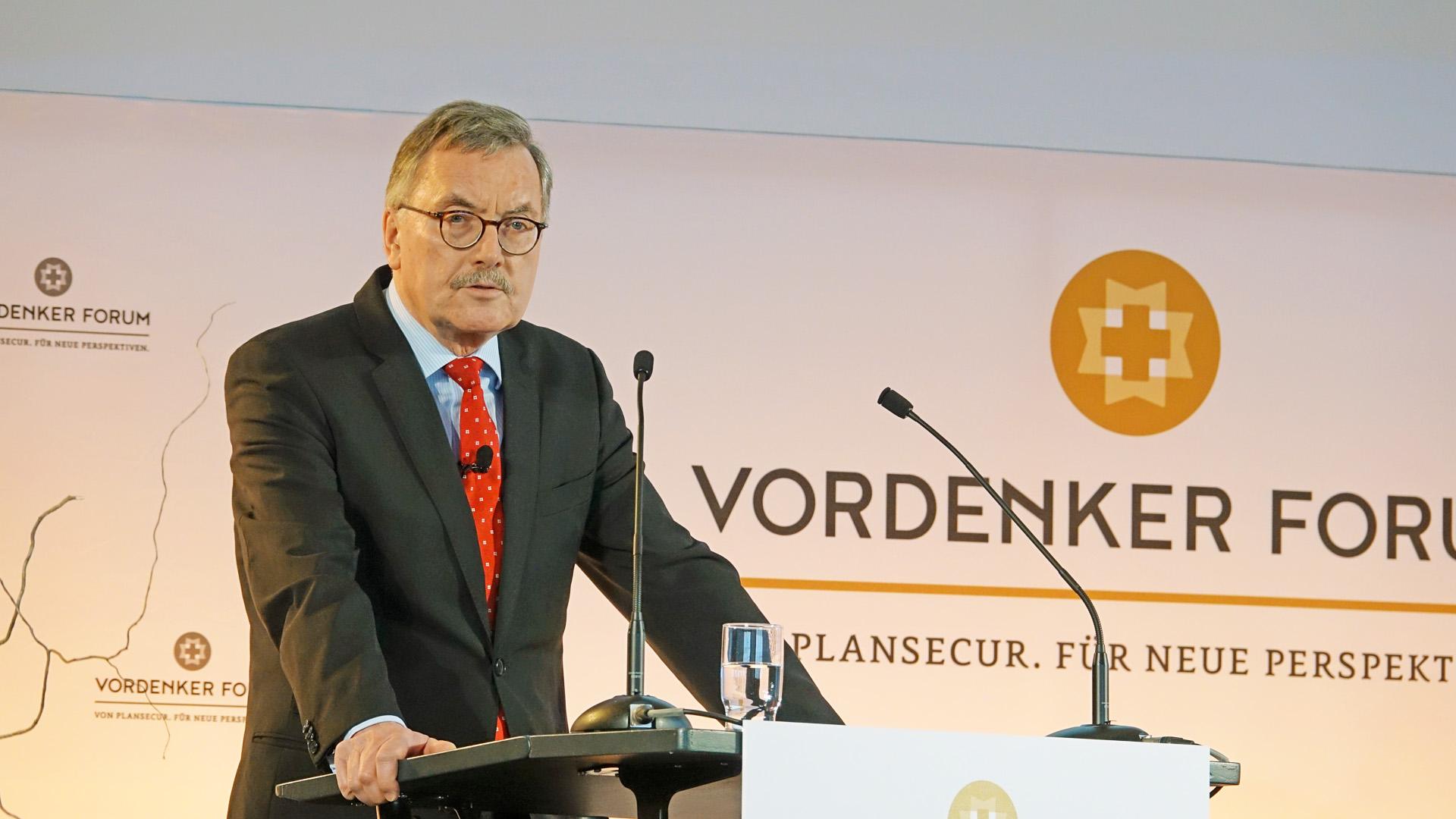 Der Ökonom Jürgen Stark ist Juryvorsitzender des Vordenker-Preises