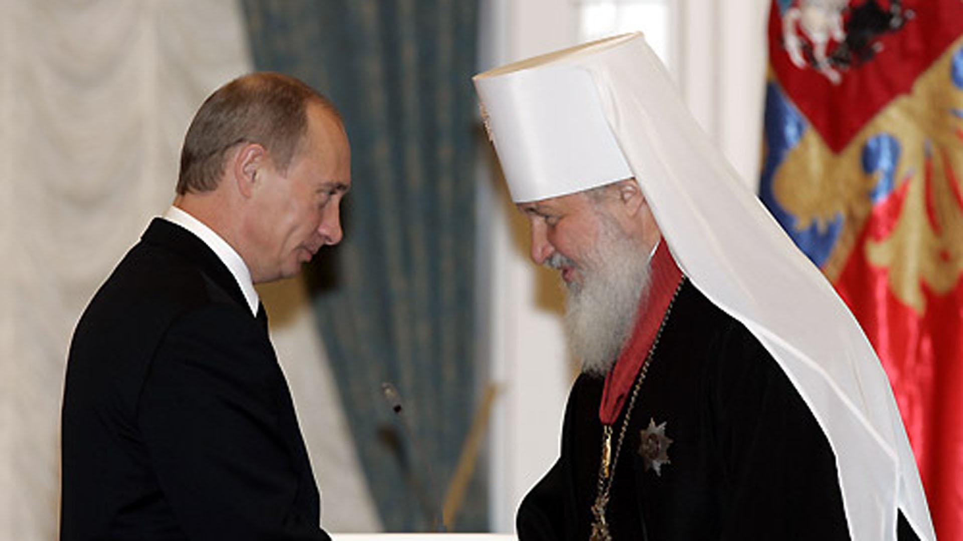 Patriarch Kyrill macht aus seiner Zustimmung zu Putins Politik keinen Hehl