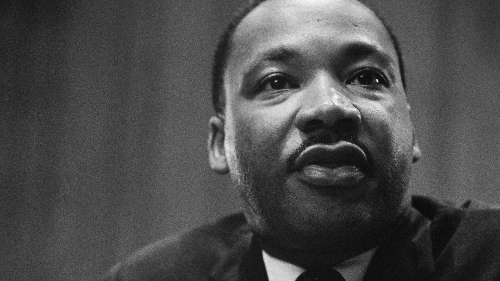 Der Baptistenpastor und US-Bürgerrechtler Martin Luther King wurde am 4. April 1968 Opfer eines Attentats.