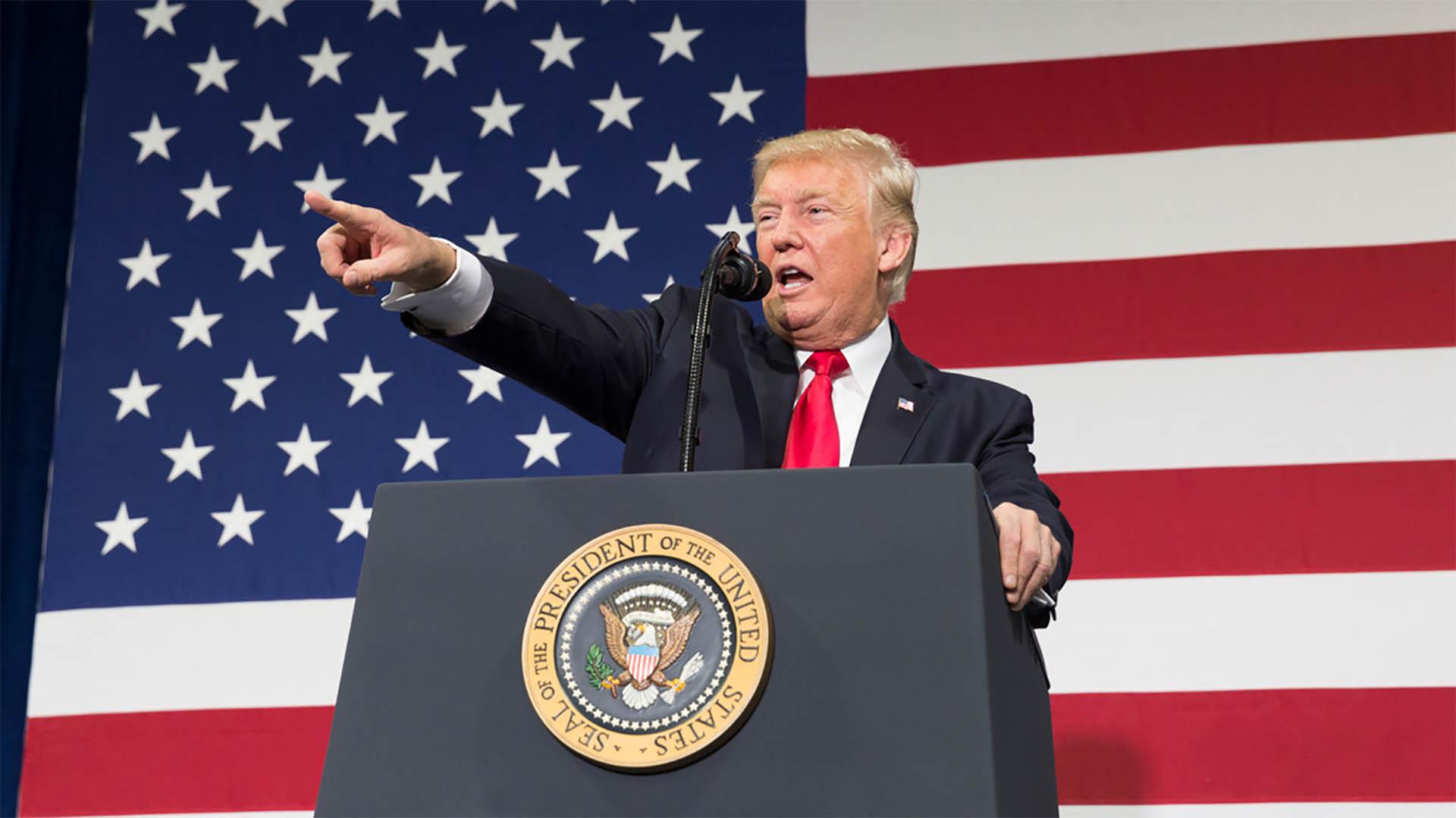 US-Präsident Donald Trump (hier bei einer Veranstaltung im August letzten Jahres) hat am Donnerstag den traditionellen Nationalen Gebetstag ausgerufen