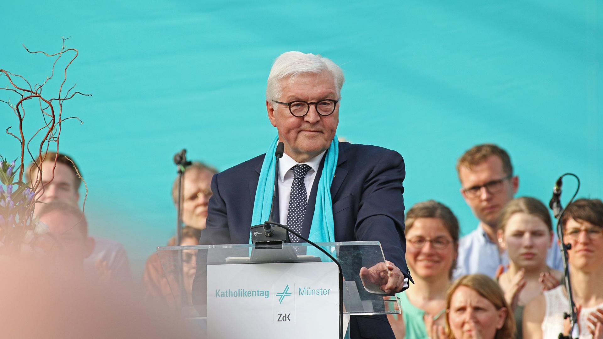 Bundespräsident Steinmeier beim Katholikentag in Münster