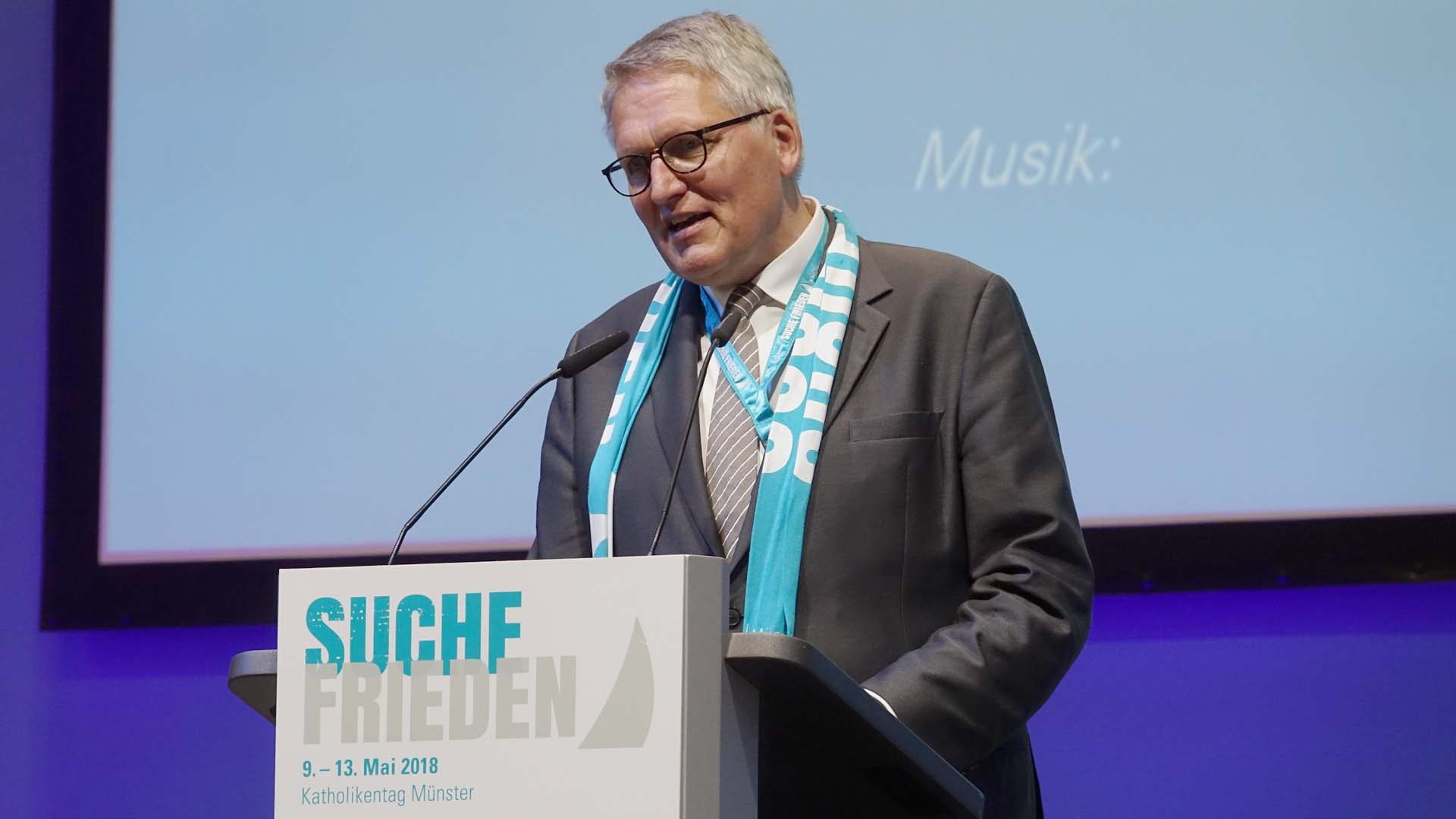 Thomas Sternberg, Präsident des Zentralkomitees der deutschen Katholiken (ZdK), kündigt Frank-Walter Steinmeier an