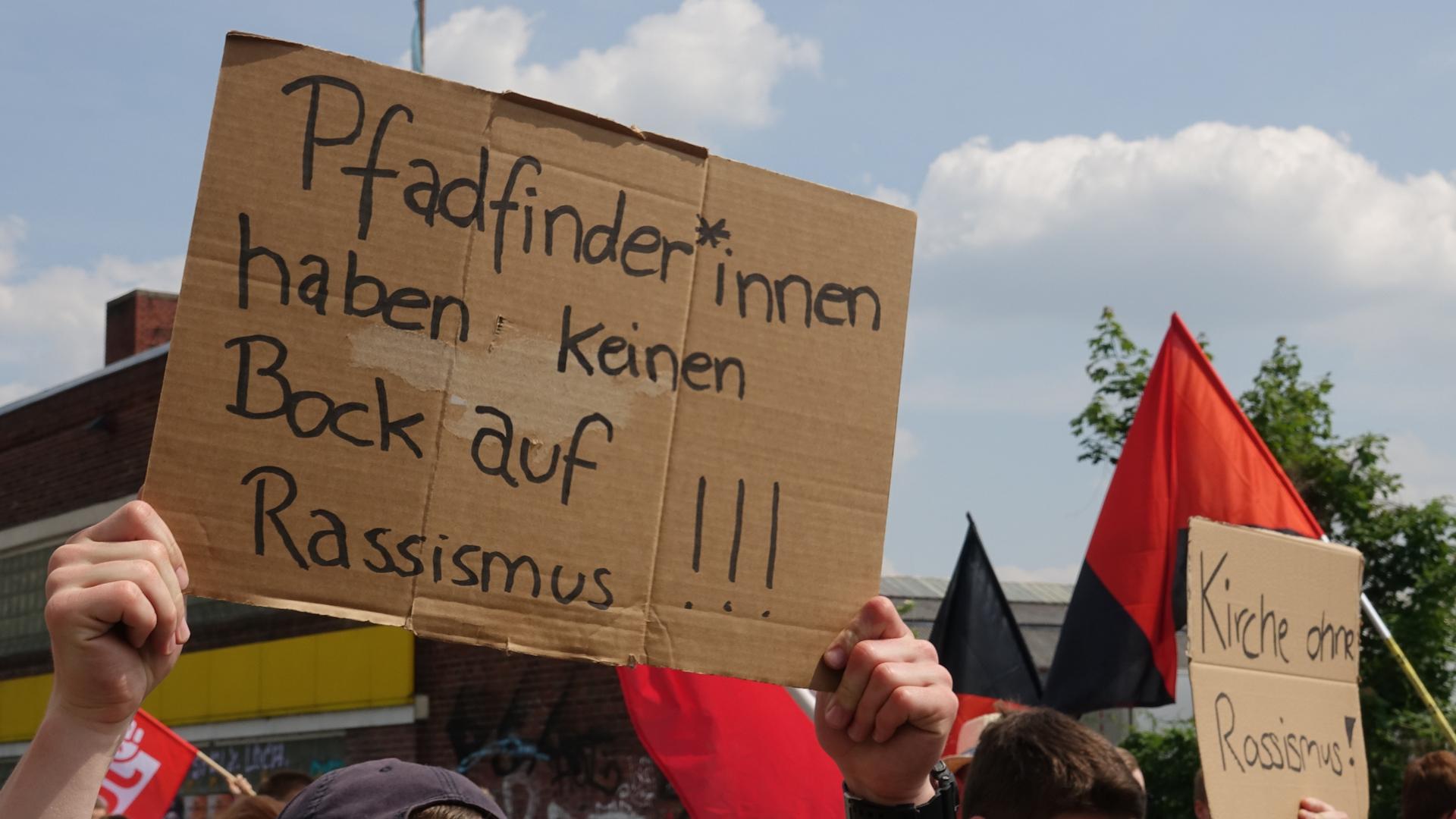 Protest gegen die AfD beim Deutschen Katholikentag im Mai
