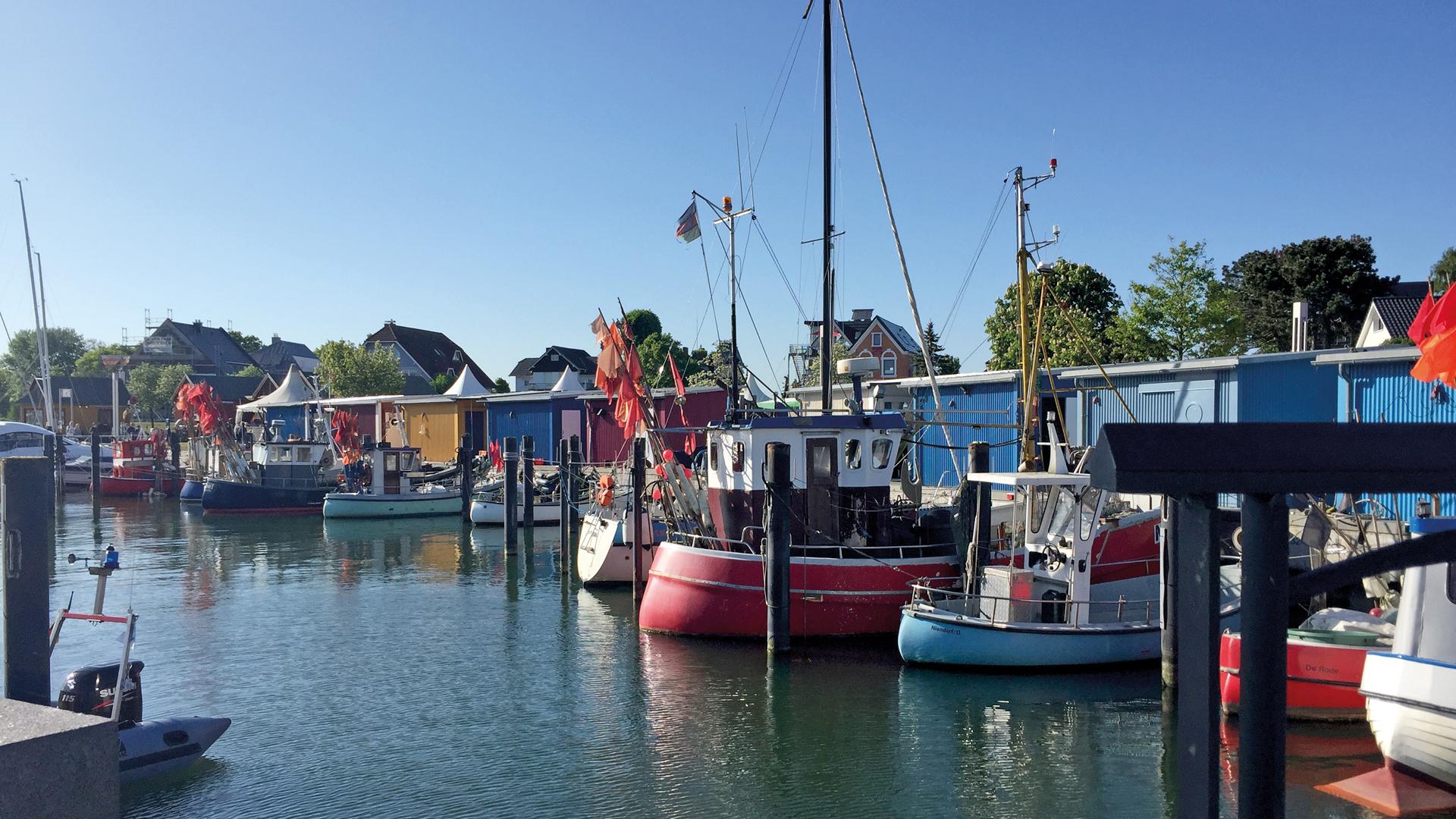 Der Hafen ist Ausgangspunkt für Seebestattungen