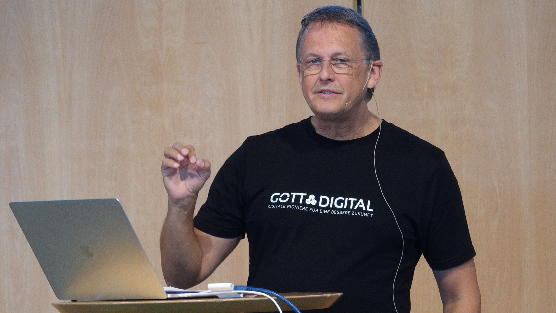 Guido Falkenberg ist einer der Initiatoren der Konferenz. Der Informatiker liebt digitale Technologien.