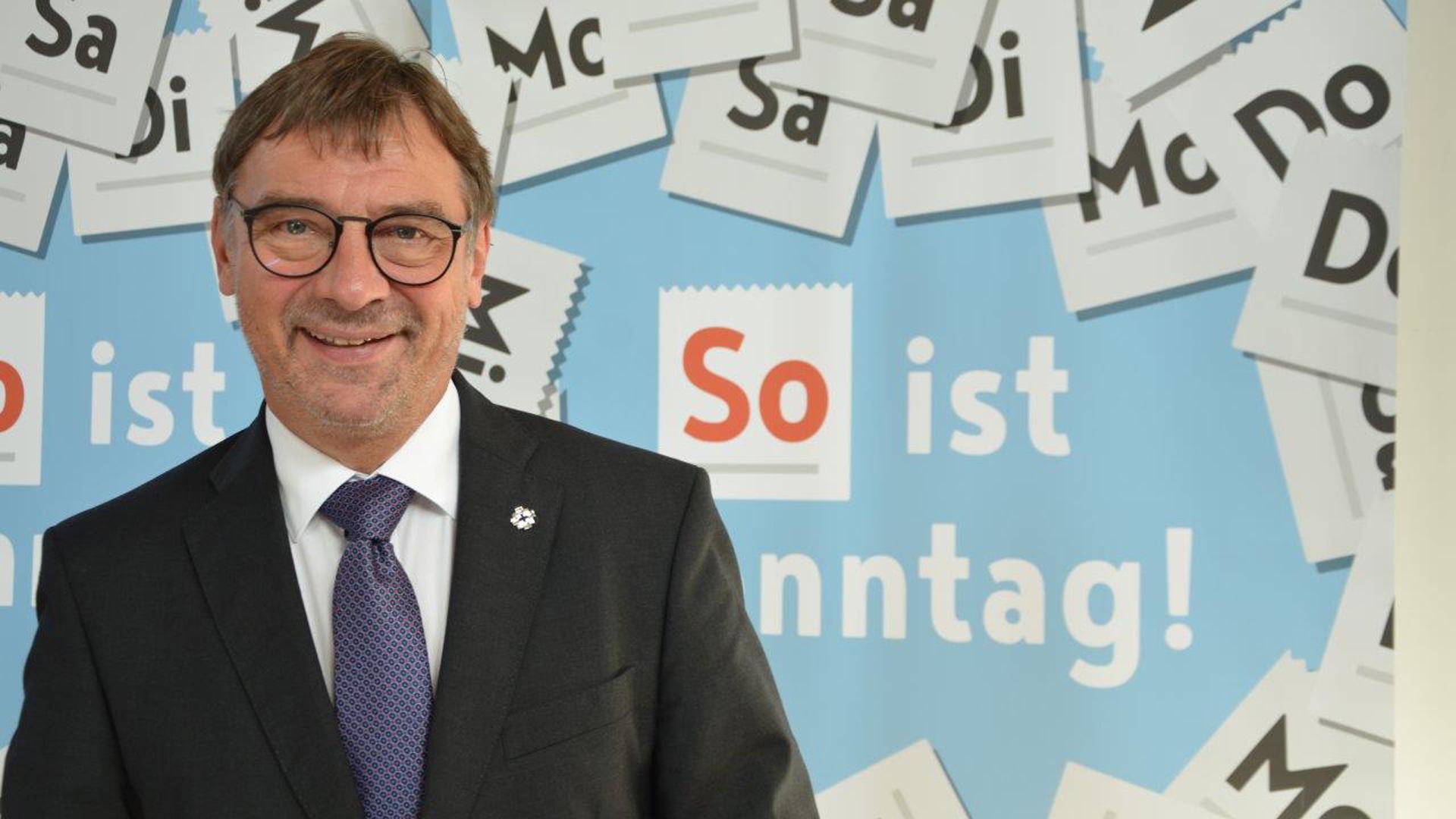 """Freut sich über die """"So ist Sonntag!""""-Aktion: der hessen-nassauische Kirchenpräsident Volker Jung"""