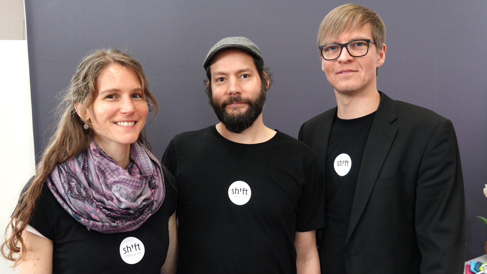Die Köpfe hinter Shift: (v.l.) Deborah Waldeck, Carsten Waldeck, Produktdesigner Daniel Rauh