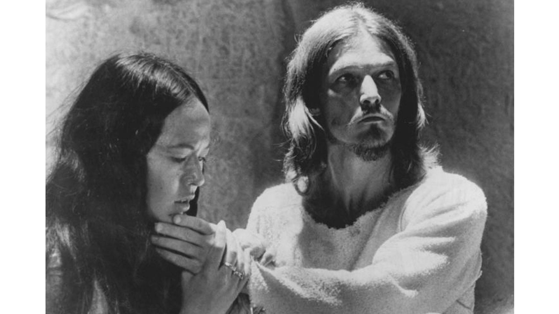 """Verfilmung von """"Jesus Christ Superstar"""": Ted Neeley als Jesus und Yvonne Elliman in der Rolle der Maria Magdalena"""
