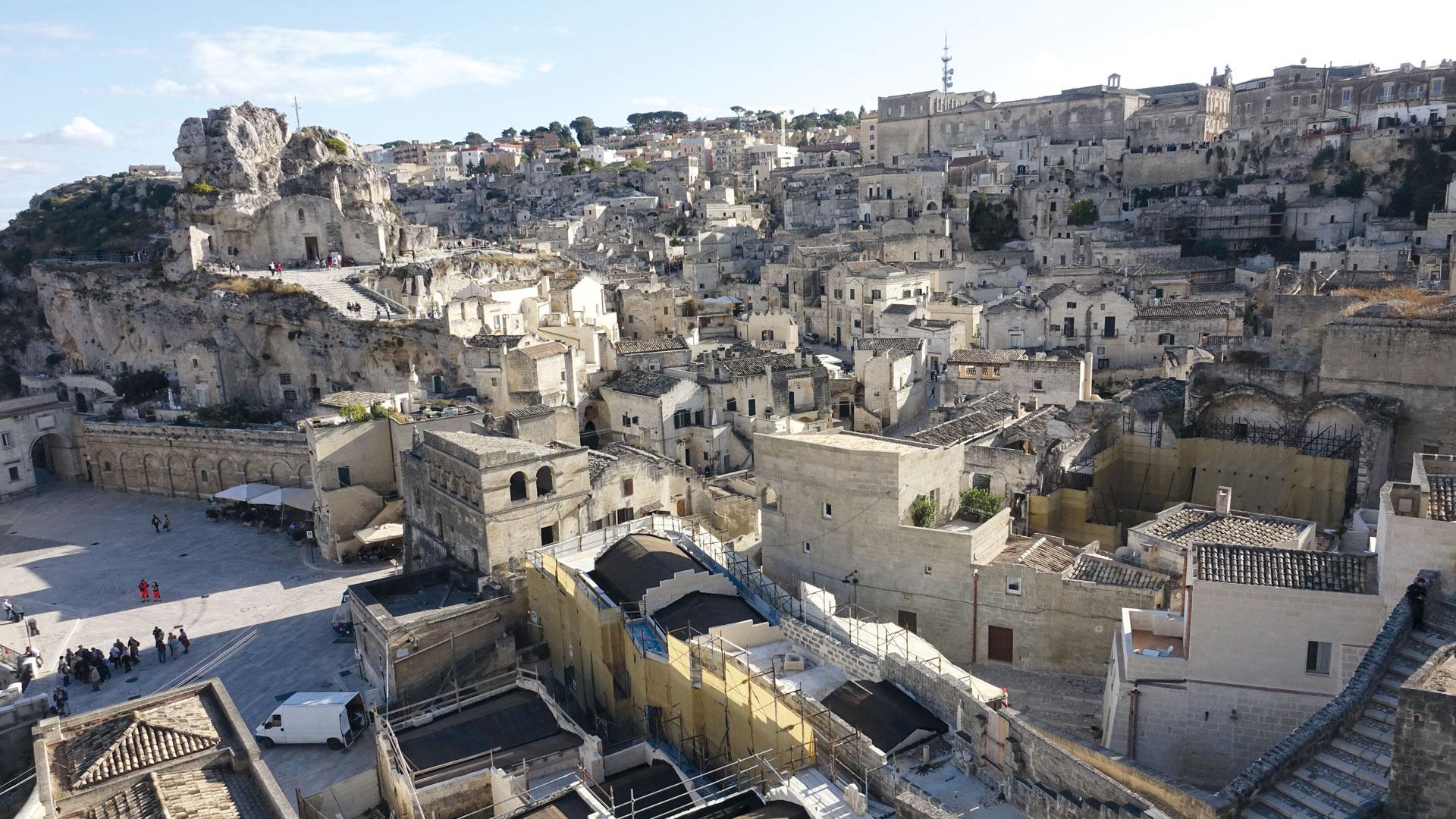Blick über die Altstadt von Matera