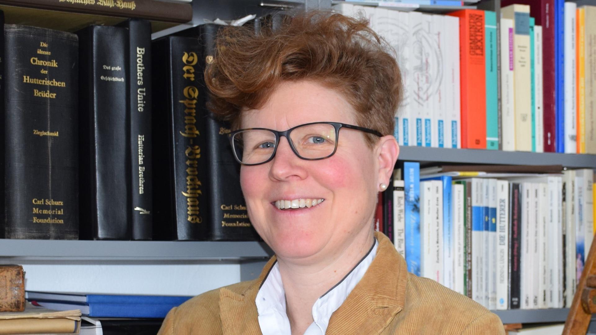 """Die Vorsitzende des Vereins """"500 Jahre Täuferbewegung"""", die Mennonitin Astrid von Schlachta"""