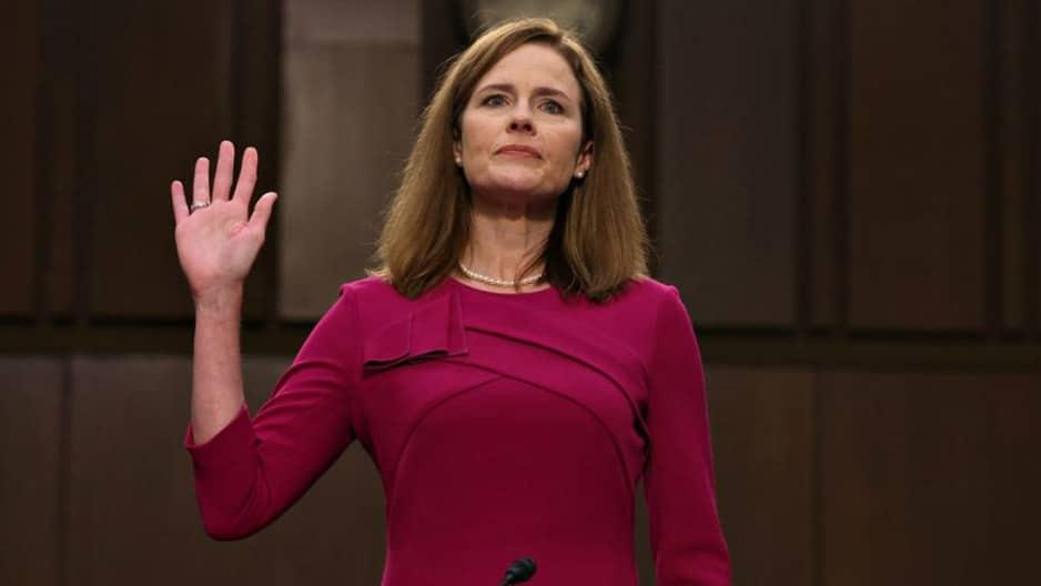 Die neue Verfassungsrichterin während ihrer Vereidigung