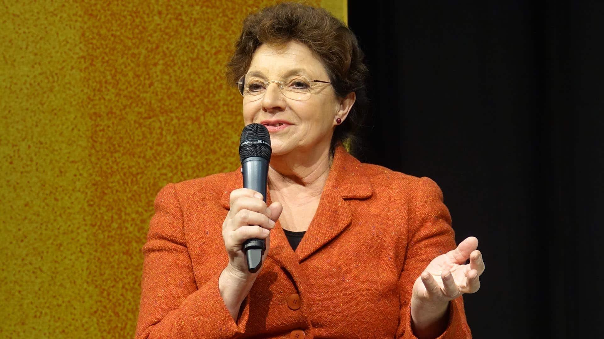 "Monika Baumgartner im Februar bei der Kirchenmesse ""Gloria"" in Augsburg im Februar 2018"