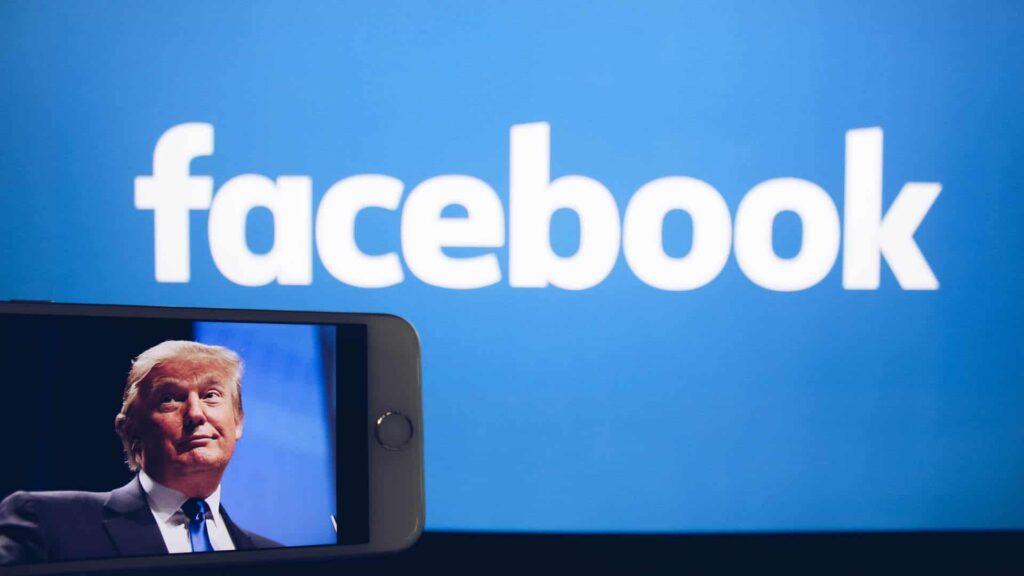 Donald Trumps Facebook-Zugang ist gesperrt. Sein letzter Beitrag ist vom 6. Januar.