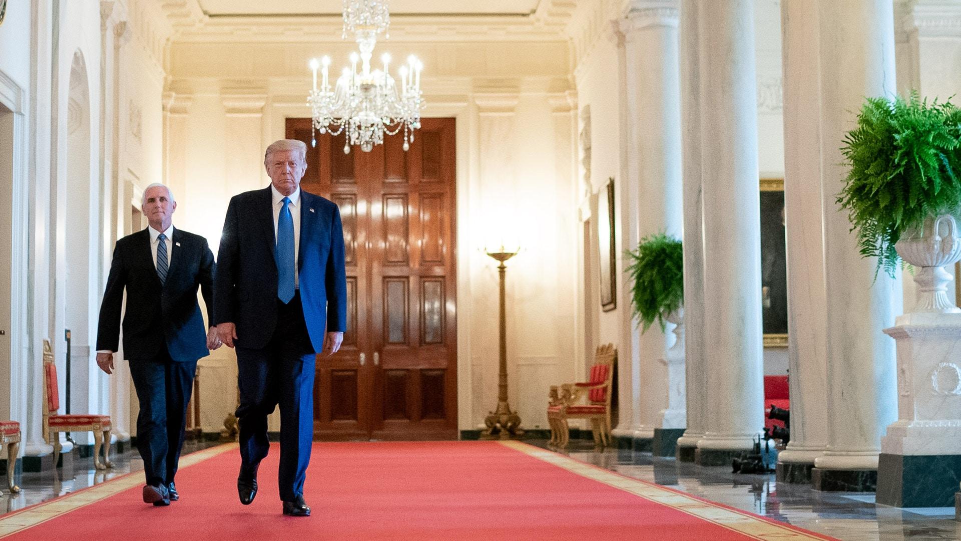 Lügen, Skandale, Amtsenthebungsverfahren: Mike Pence hielt trotzdem zu Trump (Juli 2020, Weißes Haus)