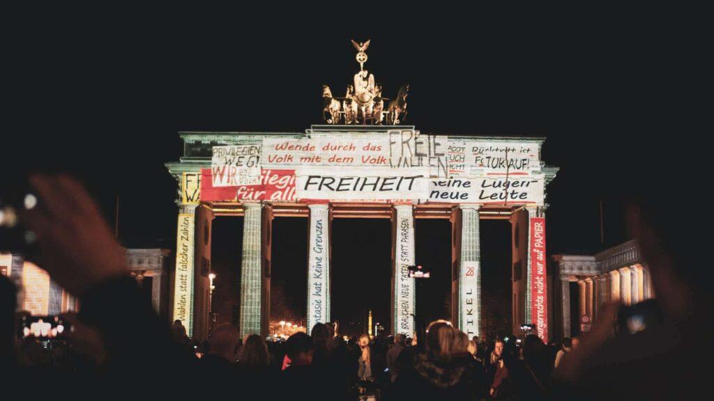 Brandenburger Tor beim Festival of Lights