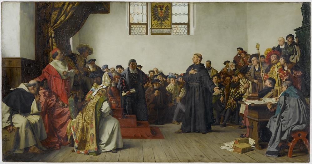 Martin Luther vor dem Wormser Reichstag