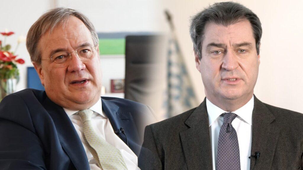 Markus Söder und Armin Laschet wollen Kanzlerkandidaten werden