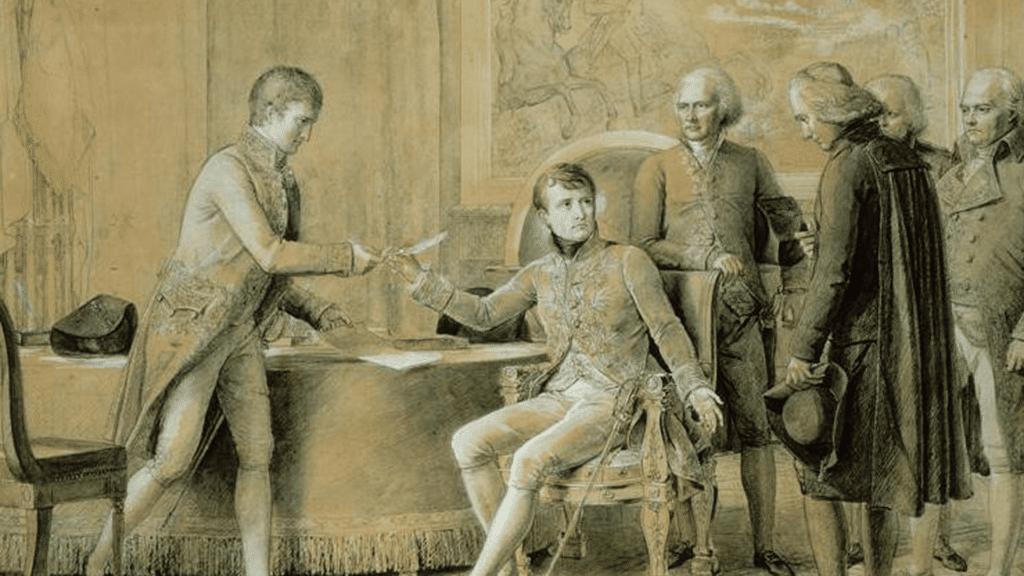 Napoleon unterzeichnet das Konkordat