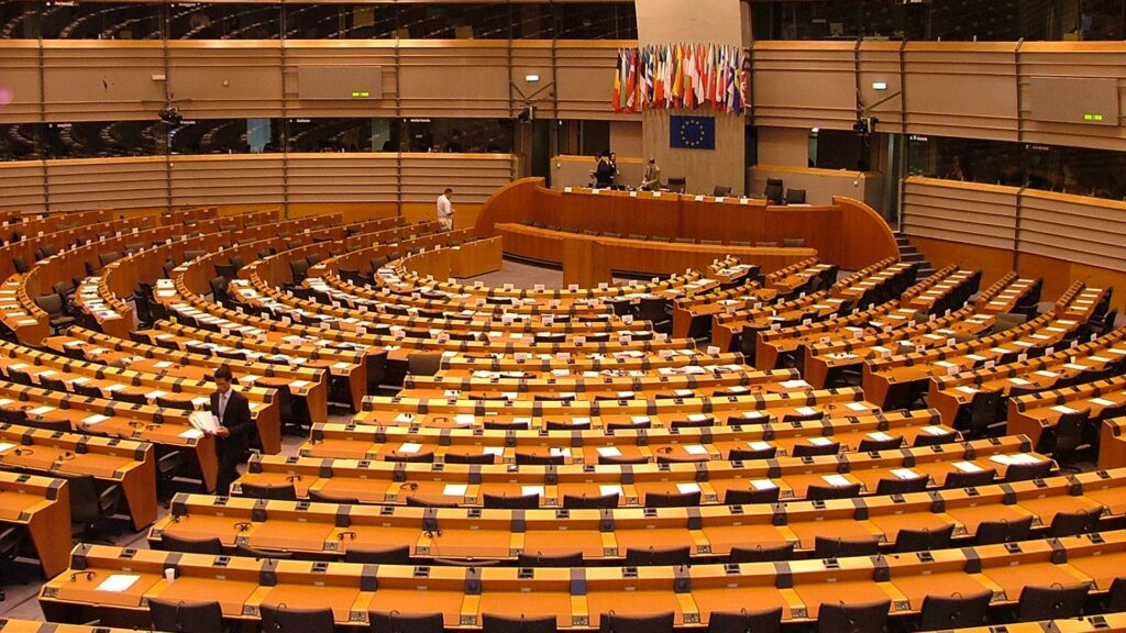 Parlamentssal in Brüssel