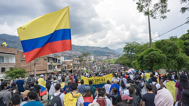 Protest, Demonstration, Kolumbien, Medellín